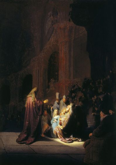 Rembrandt: Simeon's Song of Praise. Fine Art Print/Poster. Sizes: A4/A3/A2/A1 (004303)